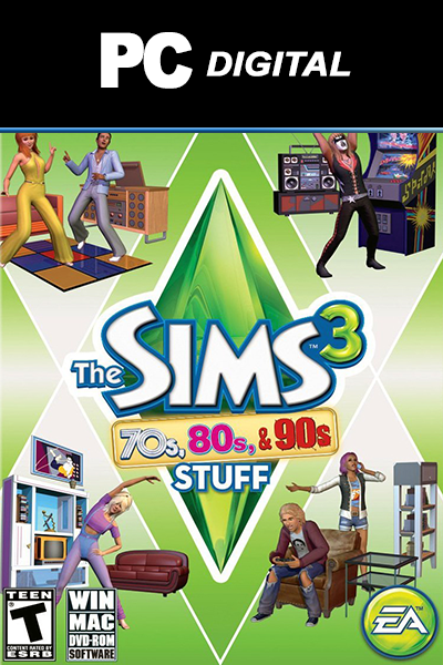 The Sims 3: 70s, 80s & 90s Stuff PC DLC EA