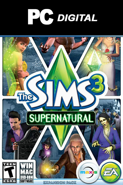 The Sims 3: Supernatural PC DLC EA