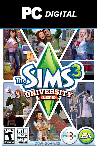 The Sims 3: University Life PC DLC EA