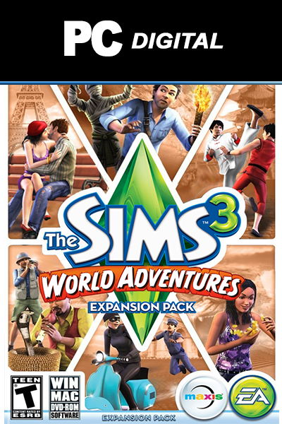 The Sims 3: World Adventures PC DLC EA