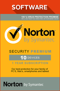Norton Security Premium 3.0 - 25GB, 1 User, 10 enheter, 12 måneders
