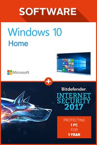 Windows 10 home + Bitdefender Internet Security 2017